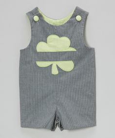Black Gingham Clover Shortalls//