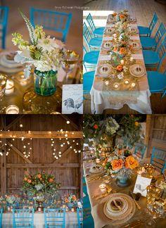 Krystal S Wedding Teal And Orange Rustic
