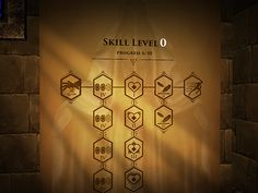 VR Game - Skill Tree UI designed by Akvile. Connect with them on Dribbble; Game Design, Icon Design, Vr Games, Game Icon, Ui Elements, Game Ui, User Interface, Menu, Inspiration
