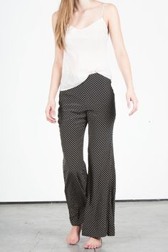 DKNY Stary Silk Flare Pants -- found on BIBANDTUCK.COM #Flow