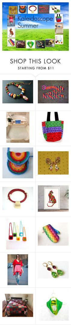 """""""Kaleidoscope Summer: Unique Gift Ideas"""" by paulinemcewen ❤ liked on Polyvore featuring rustic and vintage"""