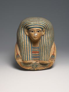 Miniature Mask for a Canopic bundle, ca. 1427–1400 B.C., Egyptian. The Metropolitan Museum of Art, New York. Theodore M. Davis Collection, Bequest of Theodore M. Davis, 1915 (30.8.231)