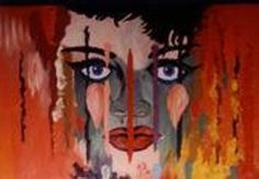 """""""Lady with the Crying Eyes"""" - Joe Meek Crying Eyes, Gallery, Painting, Flat, Vintage, Bass, Roof Rack, Painting Art, Paintings"""
