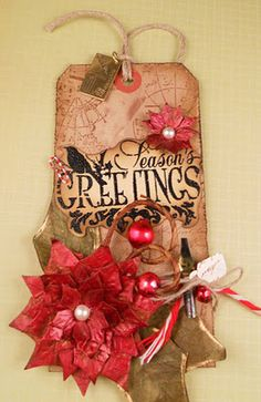 My Tim Holtz tag of Day 7
