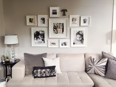 my photo wall collage neutral tones all white ikea frames