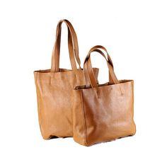Brown Leather Tote Bag Women Handbag Shoulder by JoyandSurprise, $99.00