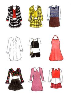 Clueless Movie Costume Print by LaurenWilliamsCo on Etsy Source by jessykhatab outfits inspiration fashion Clueless Outfits, Clueless Fashion, 90s Fashion, Trendy Fashion, Fashion Art, Fashion Outfits, Fashion Design, Cher Clueless Costume, 90s Costume