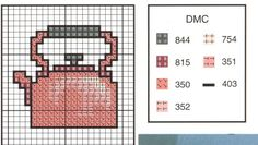 Tea Kettle Cross-Stitch Pattern
