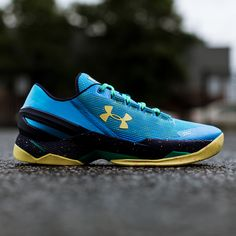 From Stephen Curry's elite point guard camp, the Under Armour Curry 2 Low 'SC Camp' is out now.