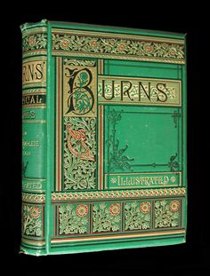 Poetical Works of Robert Burns RARE ILLUSTRATED VICTORIAN FINE BINDING AEG