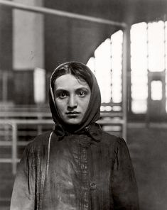 Lewis Hine, photographer, at Ellis Island 1905