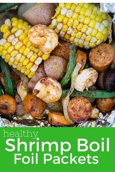 Healthy Shrimp Boil Foil Packets - Slender Kitchen