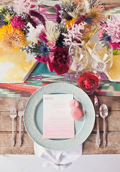 Colorful indie wedding table... 20 Wedding decor table styles.