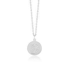Made Simply Boutique's Round Necklace in White Gold, Letter D