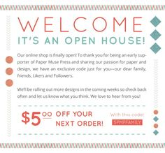 Paper Muse Press is now OPEN! @ Paper Muse Press - Come by and see us and check out our new designs!