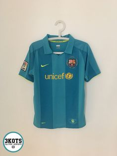 e6b77500 BARCELONA FC 2007/09 Away Football Shirt (Youth XL) Soccer Jersey NIKE  Vintage