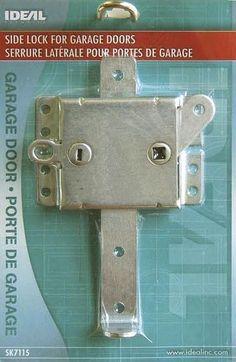 Ideal Security SK7115 INTERIOR SLIDE LOCK FOR GARAGE DOOR galvanized steel parts