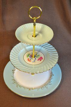 DIY * tea party cake stand