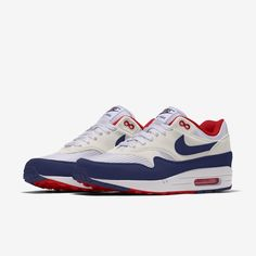 Nike Air Max 1 By You Custom Men's Shoe. Nike CA Air Max 1, Nike Air Max, Nike Id Shoes, Your Shoes, Air Max