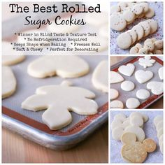 These are The Best Rolled Sugar Cookies and require no chilling and keep their shape! They won first place in a blind taste and texture test!