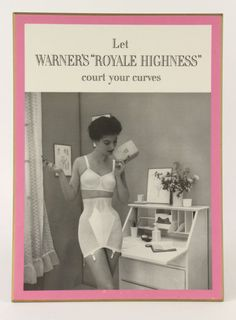 Vintage / Warner's Lingerie Advertisement, Store Display Advertisement on Board, Vintage Lingerie Classic Lingerie, Retro Lingerie, Mode Vintage, Vintage Ladies, Retro Vintage, Girdle Girls, Vintage Underwear, Vintage Girdle, Vintage Outfits