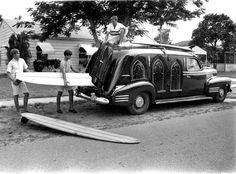 Repurposed Surfing Hearse