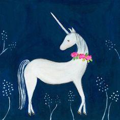 "Viv + Rae Kurt Enchanted Unicorn by Creative Thursday Marisa Stretched Canvas Wall Art Size: 10"" H x 10"" W x 1.5"" D"