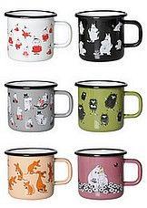Moomin mugs : Muurla, Muumi emalimuki Retro Moomin Mugs, Tove Jansson, Kitchen Dining, Retro, Dishes, Tableware, Glass, Kitchen Ideas, Enamel