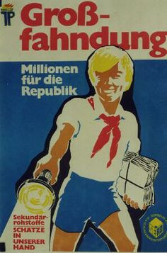Plakat Volkseigenes Kombinat Sekundärrohstofferfassung, DDR