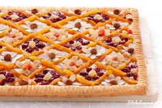Mazurek - traditional Polish Easter cake with caramel, nuts and dried fruits