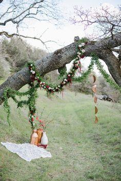 Eco-Friendly California Wedding with Marsala bohemian wedding backdrop - photo by Shannon Rosan Phot Wedding Themes, Wedding Styles, Wedding Decor, Wedding Ideas, Wedding Planning, Wedding Inspiration, Wedding Dresses, Boho Wedding, Floral Wedding