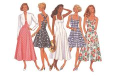 Butterick 6213 Vintage 1990s Sewing Pattern Sizes 6/8/10/12 Classics Fast Easy Jacket Dress Culotte Dress Loose Cropped Criss Cross Straps