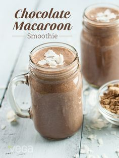 Chocolate Coconut Macaroon Smoothie: We loved the Go Fit Gals' smoothie so much, we had to share it will all of you. Reminiscent of one of our favorite chocolate bars, this chocolate coconut smoothie combines the sweet tastes of coconut, dark chocolate and almonds to help you escape your daily routine. Talk about joy! #VegaSmoothie #BestSmoothie