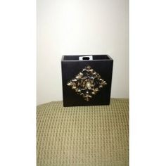 Hand painted stand gold wooden carved and a stud on it