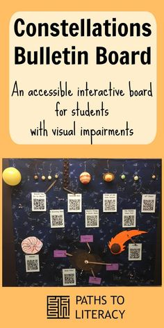 Create an accessible interactive bulletin board about the constellations for students who are blind or visually impaired.