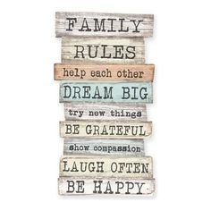 Family Rules Decorative Panel