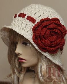 PDF Pattern - Rose Cloche with Band | PDDesigns - Patterns on ArtFire
