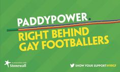 Paddy Power ads back push to tackle homophobia in football