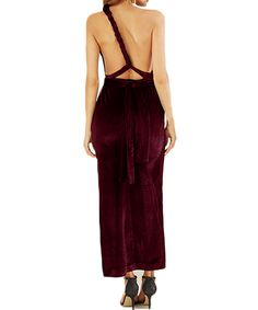 Athena High Slit Velvet Convertible Dress #fashion #winter #dress #velvet