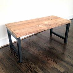 Hudson Coffee Table Reclaimed Wood & Steel Coffee by arcandtimber