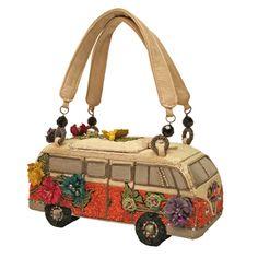 Mary Frances Get on The Bus VW Vintage Auto Bead Bag Purse Handbag New Summer 13 | eBay