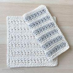 Simple Crochet Dishcloth Pattern | Etsy Diy Crochet Washcloth, Crochet Dish Towels, Crochet Kitchen Towels, Crochet Dishcloths, Easy Crochet, Crochet Christmas Stocking Pattern, Crochet Stocking, Crochet Gifts, Stitch Patterns