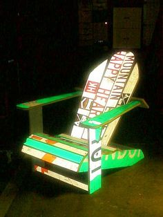 Adirondack chair made from surplus road signs by Simple Simon ®, via Flickr