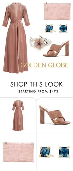 """""""Golden Globes Gown"""" by silverfishx ❤ liked on Polyvore featuring LUISA BECCARIA, Gianvito Rossi, Rochas, David Yurman and Shaun Leane"""