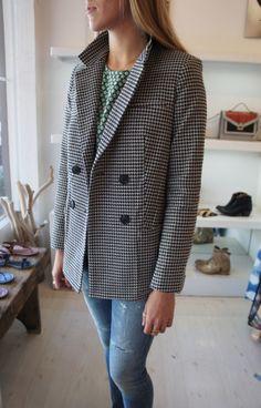 Pre-Fall 2014 Sea Double Breasted Blazer ($525.00) @SeaNewYork #plaidjacket #blazer #menswear