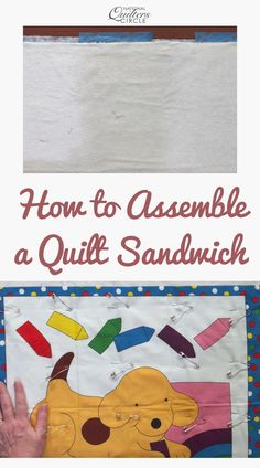 Assembling a quilt sandwich is an important part of finishing a quilt. Once a quilt top has been pieced, this is the step of the process that needs to happen before it can be quilted. ZJ Humbach walks you through this process and explains how a quilt sandwich is made. Machine Quilting Designs, Quilting Tips, Quilting Tutorials, Quilting Projects, Sewing Projects, Sewing Class, Sewing Basics, Sewing Tips, Sewing Hacks