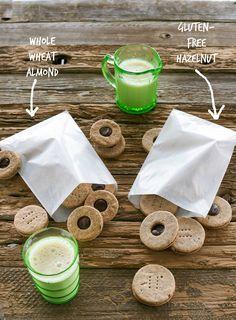 Vegan Chocolate-Hazelnut Sandwich Cookies - perfect for Christmas! Recipe on An Unrefined Vegan.