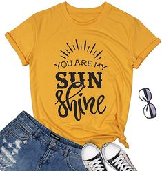 Women T Shirt Letter Printed Summer Tee Top Loose Casual Graphic Short Sleeve Cotton V Neck Sunshine and Whiskey Cute Graphic Tees, Graphic Tee Shirts, Beach Humor, Funny Beach, Sunshine And Whiskey, Country Shirts, Women Sleeve, Casual Shirts, T Shirts For Women