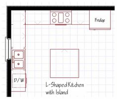 Kitchen Island Floor Plan kitchen floor plans with an island | kitchen floor plan design