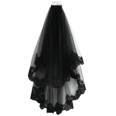 Black Lace Veil 2 Layers Creative Wedding Veil with Comb Bridal Veil Costume Headwear for Halloween Party Decor Dress-Accessories for Adults Supplies Bags Dress-Accessories Dress Supplies Index Dividers-Stamps Lace Veils, Wedding Veils, Bridal Veils, Lace Wedding, Bridal Comb, Dream Wedding, Wedding Dress, Lace Outfit, Black Ribbon
